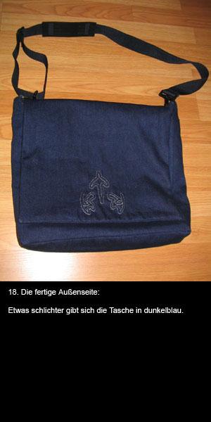 aus alten jeans eine trendige jeanstasche n hen blog f r. Black Bedroom Furniture Sets. Home Design Ideas